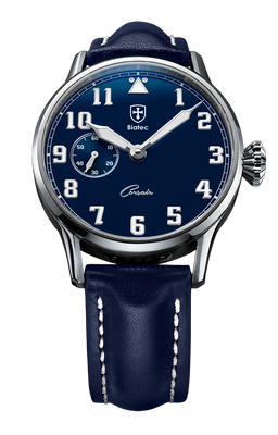 Biatec Corsair 05 - automatic pilot watch - blue leather strap