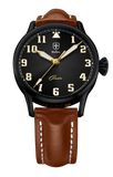 Biatec Corsair CS 02 - automatic pilot watch - light brown leather strap