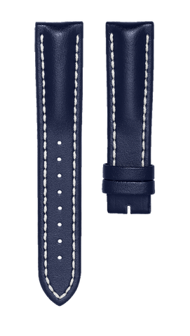 Leather strap - blue - 20 mm