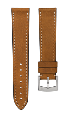 Leather strap Vintage Nubuk - light brown - 20 mm