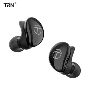 TRN T200 TWS 1BA+1DD Hybrid Drivers V5.0 Bluetooth Headset Portable Sport Earphone Earbuds With QCC 3020 Chip Aptx/AAC/SBC IPX5 (TRN T200 Black)
