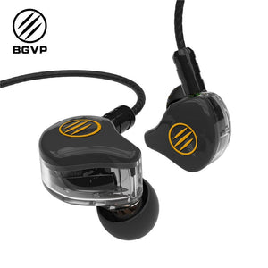 BGVP DS1 PRO HIFI Earphone 1DD+2BA Hybrid Technology in-ear IEM types OCC with Mic/ OCC plated with silver no Mic MMCX cable (dark red no Mic)