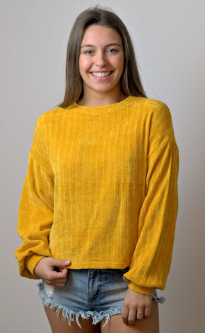 Yellow Ribbed Jersey