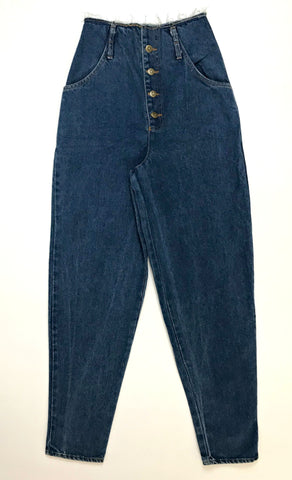 Vintage Button Mom Jeans (8)