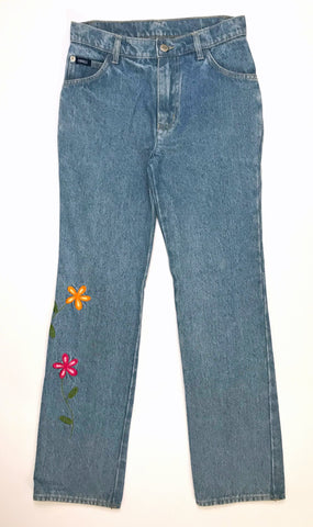 Vintage Embroidered Jeans (6-8)
