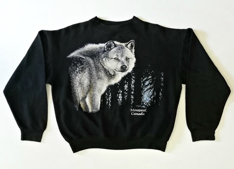 Vintage Canada Wolf Sweater (M-L)