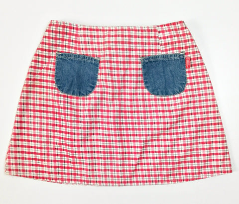 Vintage Check Denim Skirt (26-28)