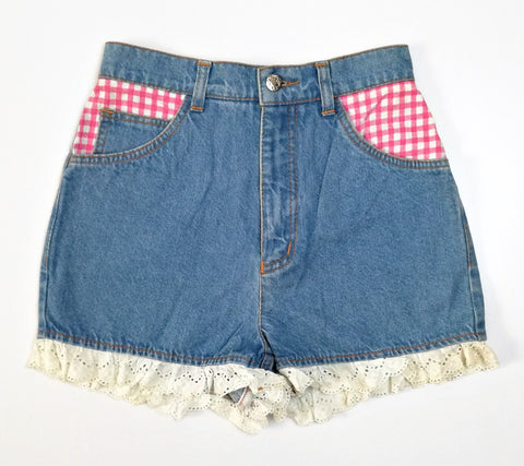 Vintage Check Pocket Denim Shorts (6/30)