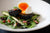 Asparagus Salad, with Black Pudding and Boiled Egg