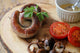 Cumberland Ring Sausage with Grilled Mushrooms and Tomato