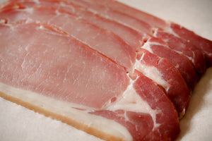 Close Up of Gills Dry Cured Smoked Bacon Rashers