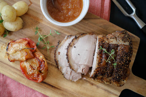 Pork Loin Roast with Salt & Pepper Rub