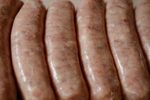 Gills Pork & Apple Sausages Close Up