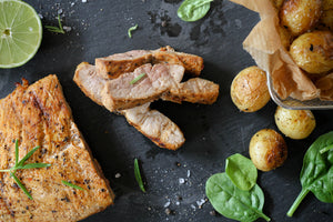Cajun Pork Fillet with New Potatoes
