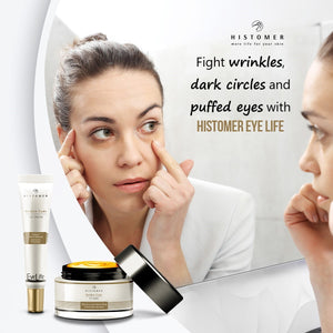 Fight wrinkles, dark circles and eye puffiness with Histomer Eye Life
