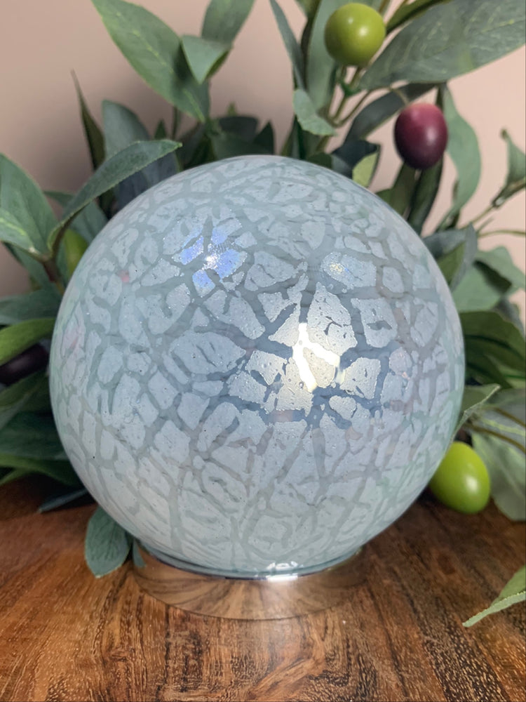 PRE ORDER - Soft Blue Crackle Friendship Ball