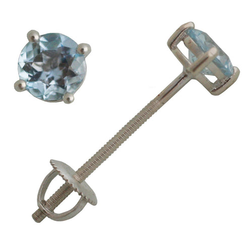Blue Topaz  Extra Long Screwback earrings