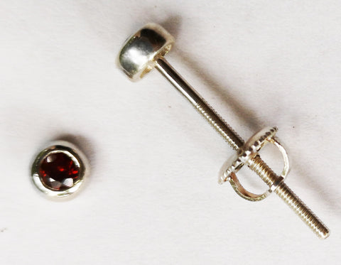 Mini garnet Extra long Post earrings