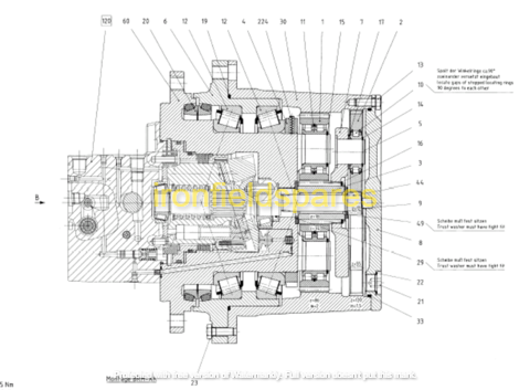 sany travel motor structure diagram