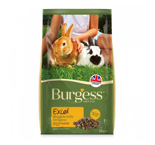 Burgess Excel Adult Rabbit Nuggets With Oregano