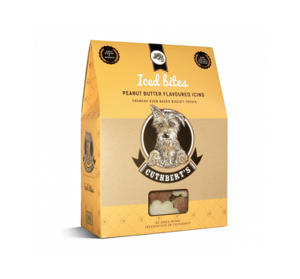 Cuthbert's Iced Peanut Butter Dog Biscuits