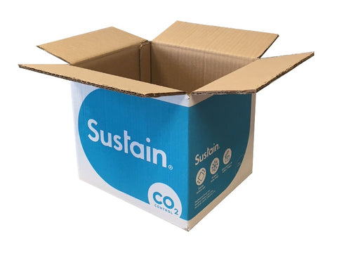 cardboard boxes with bright print