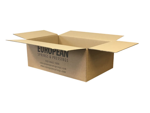 New Printed Strong Single Wall Box - 398mm x 255mm x 142mm
