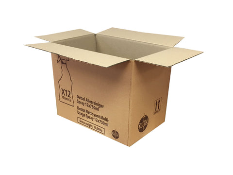 New Printed Strong Single Wall Box - 350mm x 233mm x 290mm