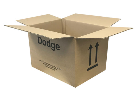 New Printed Strong Double Wall Box - 340mm x 245mm x 245mm
