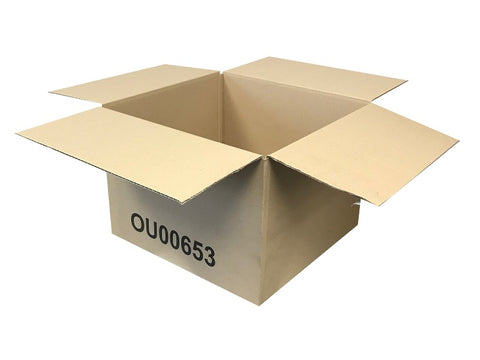 New Printed Single Wall Box - 333mm x 320mm x 234mm