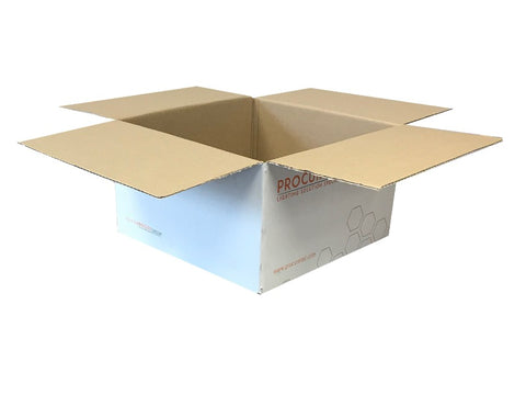 New Printed Strong Single Wall Box - 310mm x 310mm x 175mm