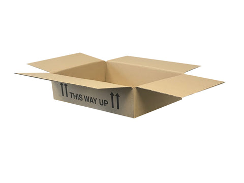 flat narrow cardboard packing boxes