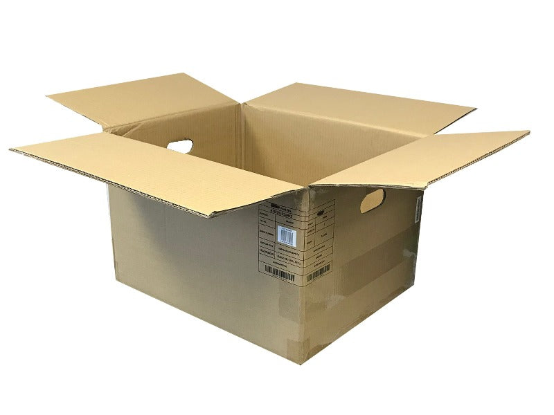 cardboard boxes with handles