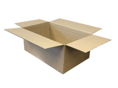 New cardboard box with perforated corners and multi-depth creases