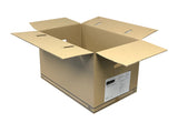 cardboard box with carry cut outs 570mm