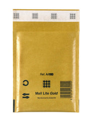 Mail Lite Gold Bubble Bag D - 180mm x 260mm