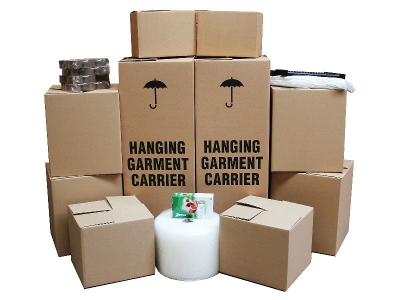 Large moving boxes kit for removals