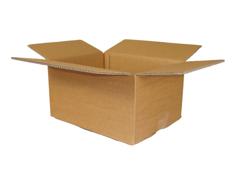 plain standard cardboard box with flaps