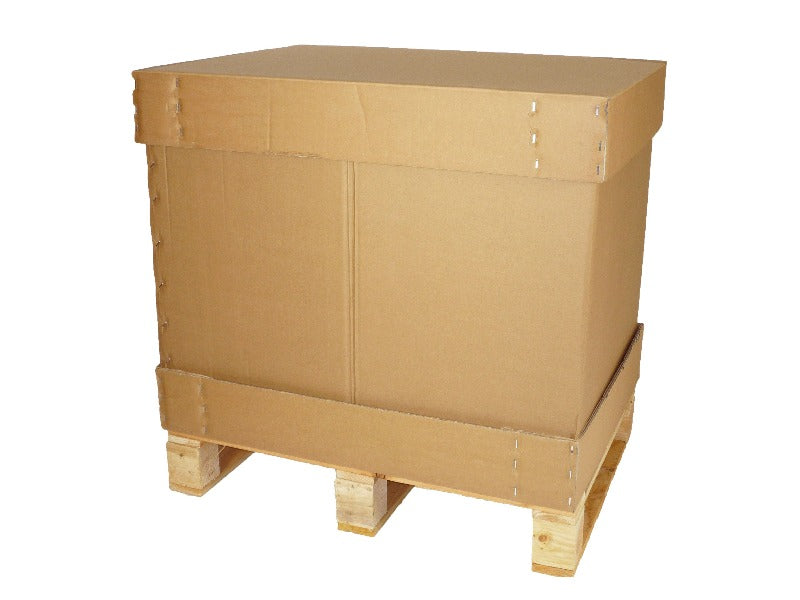 Half Euro Pallet Box + Heat Treated Pallet - 770mm x 570mm x 660mm