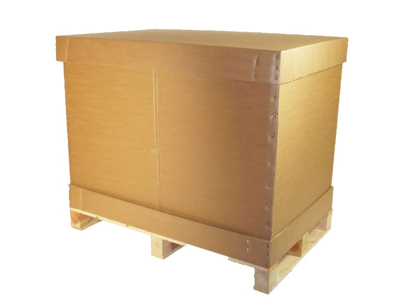 Euro pallet box and heat treated pallet