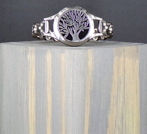 Tree Of Life Stainless Linked Diffuser Bracelet