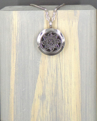 Sunflower Stainless Diffuser Necklace