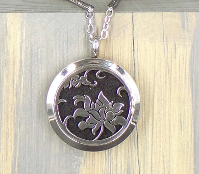 Awakening Lotus Stainless Diffuser Necklace