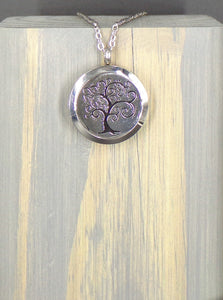 Swirl Tree Stainless Diffuser Necklace