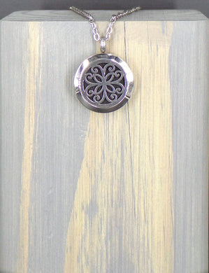 Peace Flower Stainless Diffuser Necklace