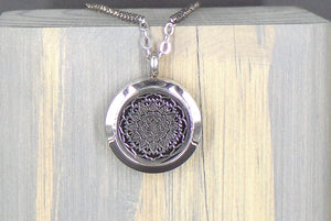 Flowering Stainless Diffuser Necklace