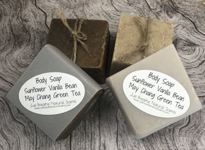 Farmhouse Rustic Soap  Sunflower Vanilla Bean May Chang Green Tea