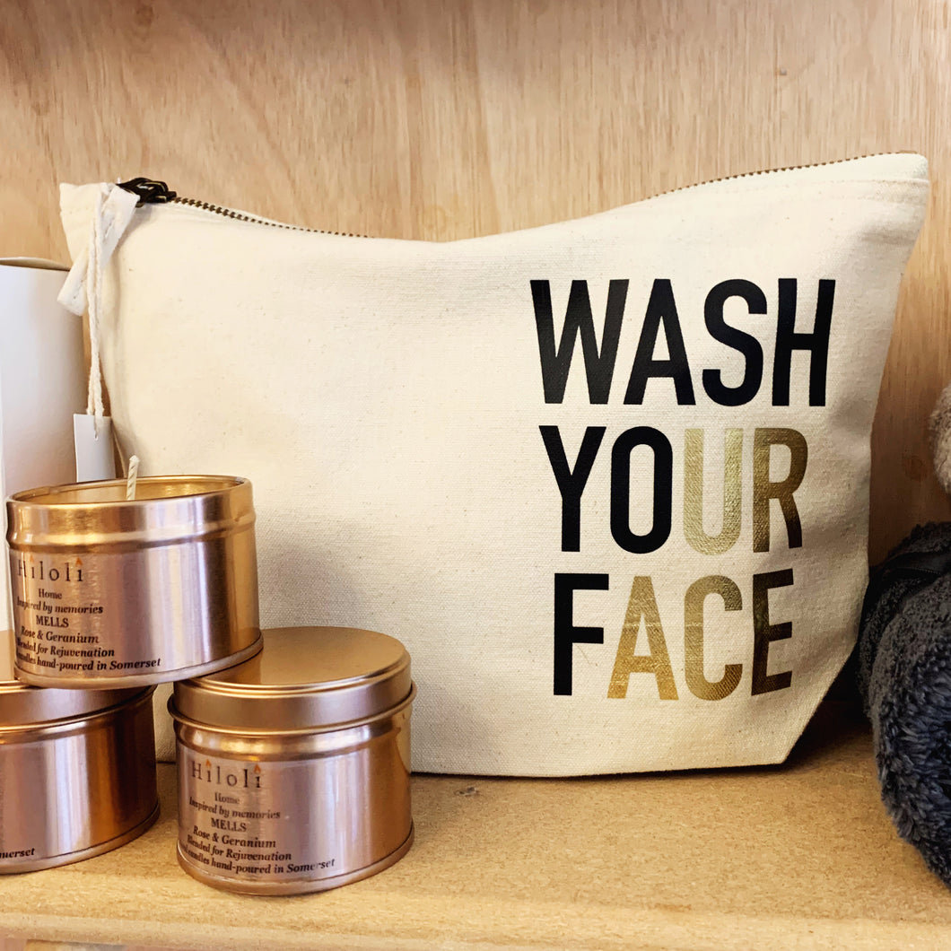 WASH YOUR FACE // UR ACE CANVAS BAG
