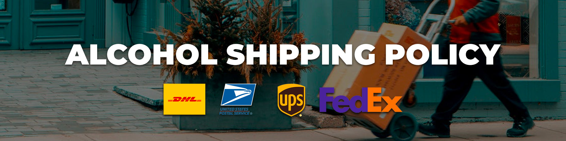 alcoholic shipping policy graphic banner