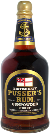 Pussers British Navy Rum Gunpowder Proof
